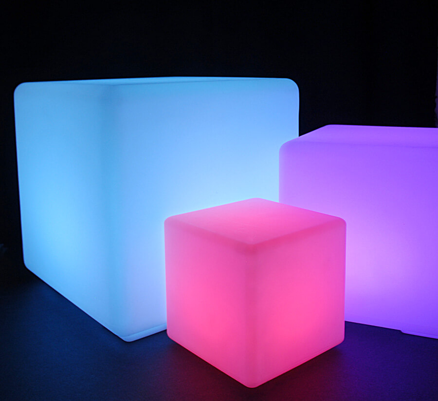Cordless LED Light Cube 8in