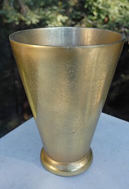 """Brass Gatsby Vase 8.5"""" x 6.25"""""""