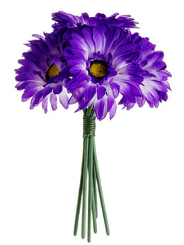 Purple Gerbera Daisy Bouquet
