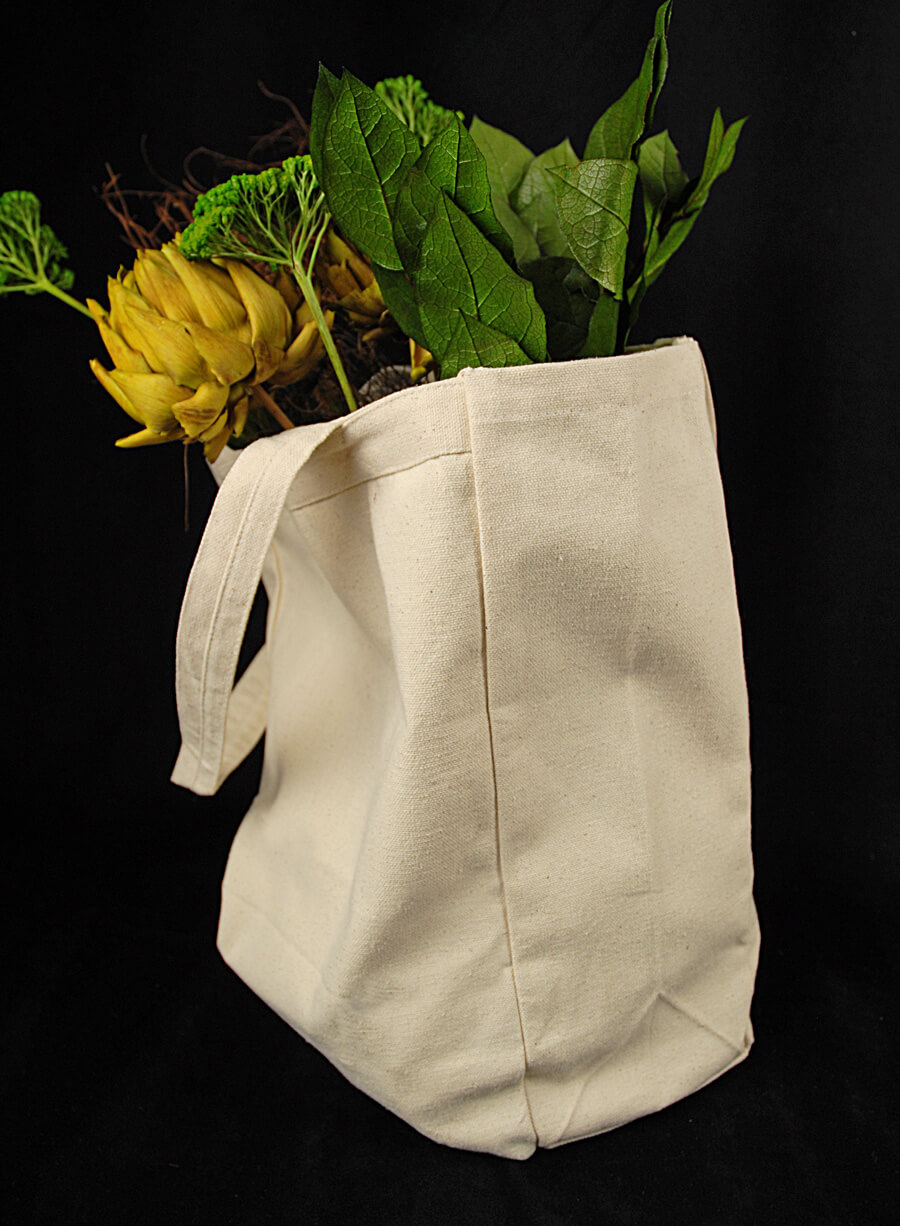 Cotton Canvas Grocery Bags (14.5 x 10)