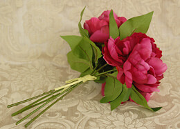 Peony Bouquet Artificial - Pink Beauty 11in