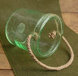 Glass Jar with Rope Handle 6in