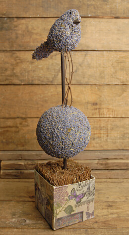 Lavender Topiary 17in