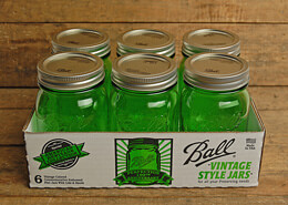 Ball Mason Jars Heritage Collection Green (Set of 6)