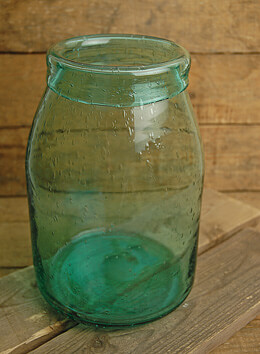 "Blue Glass Jug 9"" x 6.25"""