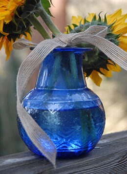 Cobalt Blue Glass Vase 5