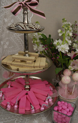 3-Tier Metal Dessert Stand 20in