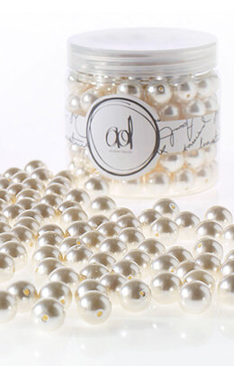 Vase Filler Pearls, 16 oz Large White