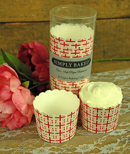 Simply Baked Large Baking Cups - Scarlet Tile (Pack of 20)