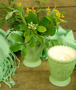Heirloom Votive Candle Holder Sea Green 3in (Set of 6)