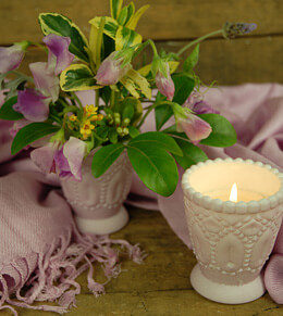 Heirloom Votive Candle Holder Lilac 3in (Set of 6)