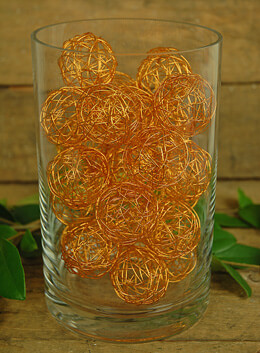 Decorative Wire Balls Copper 1.5in (Pack of 24)