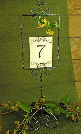 Handmade Scroll Table Numbers (1-15)