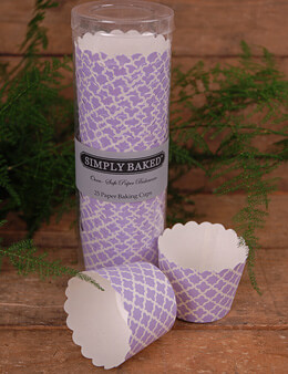 Simply Baked Small Baking Cups - Lilac Spade (Pack of 25)