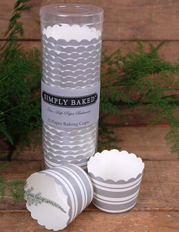 Simply Baked Small Baking Cups - Silver Variegated (Pack of 25)
