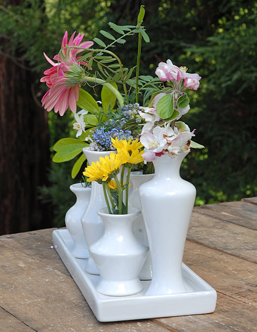 Ceramic Bud Vase Array