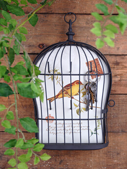 Bird Cage Key Holder 12in
