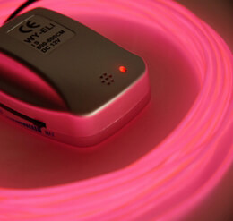 Sound Activated El Wire Pink 2.2mm x 26ft