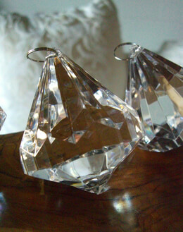 Crystals Large Chandelier Drops 3in ( 6 pieces)