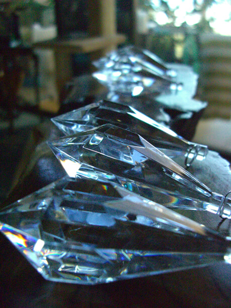 Crystal Prisms Acrylic 3in (Set of 6)