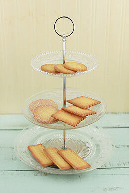 3-Tier Glass Dessert Display Tray 14""