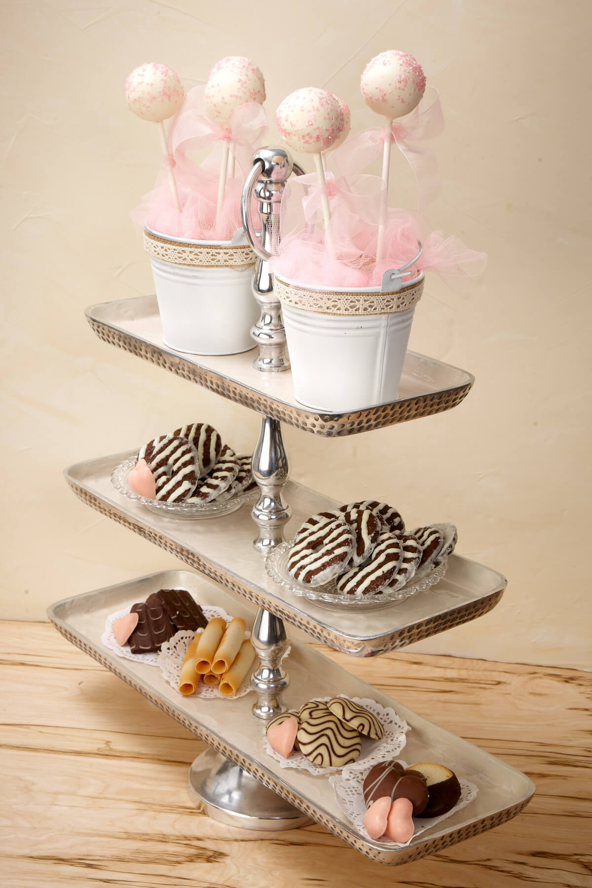 3-Tier Metal Fruit Stand 19.5in