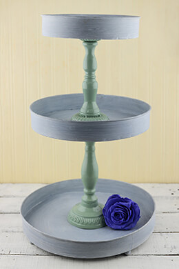 3-Tier Tray Gray 21in