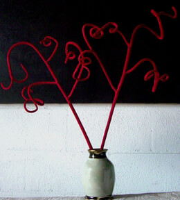 """36"""" Bendable Fuzzy Red Branch"""