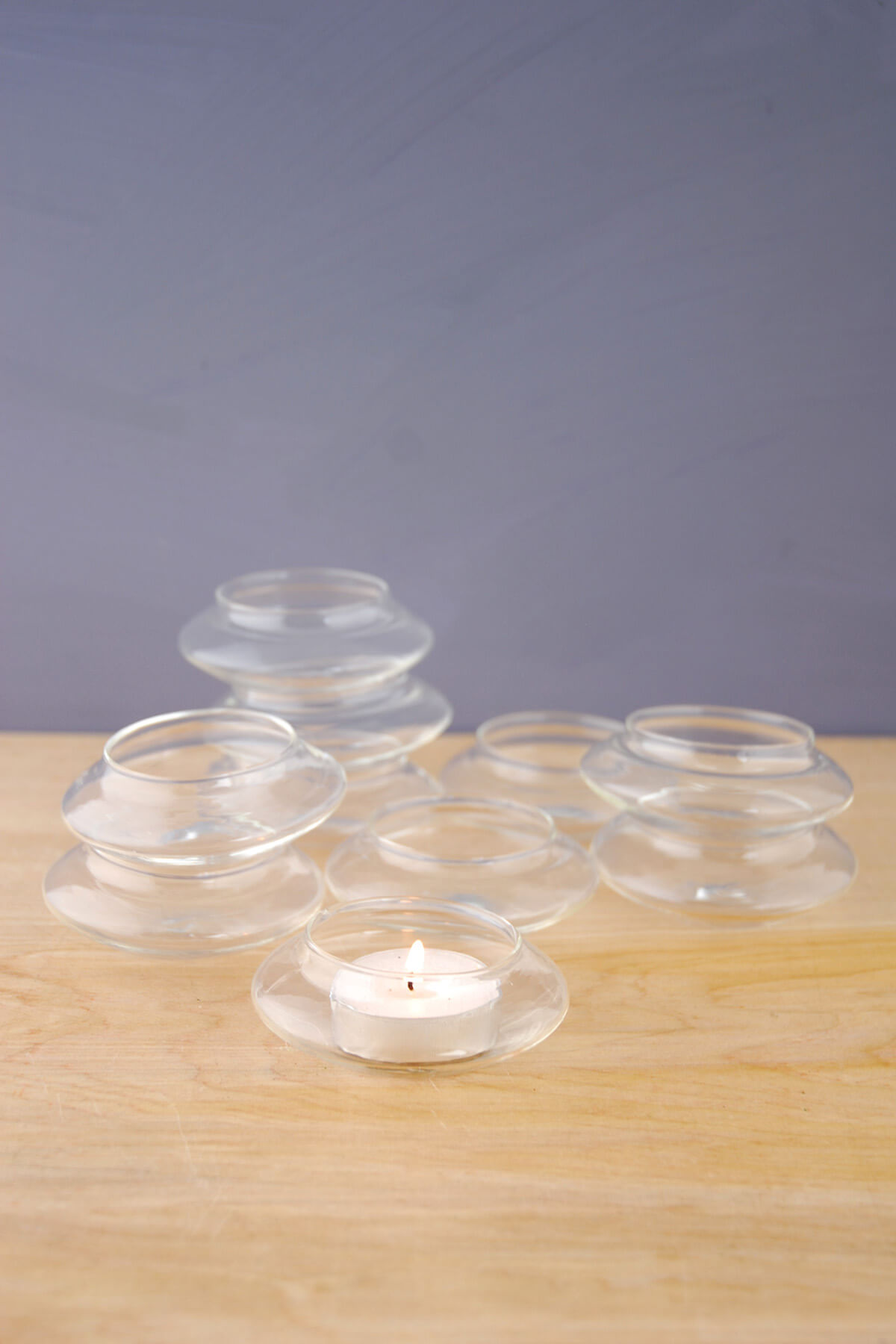 Glass Floating Tealight Holders | 12 Holders