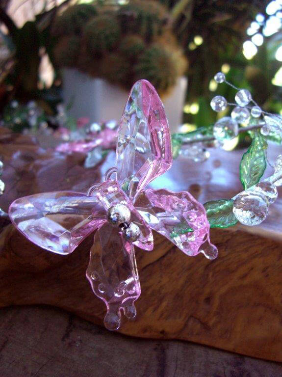 Crystal Butterfly Garlands 3ft