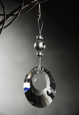 Hanging Crystal 4in