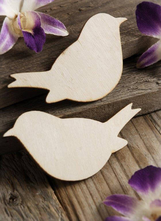 Wood Love Birds 4in (Set of Two)