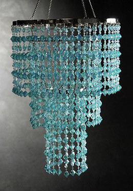 Aqua Blue Crystal 3 Tier Chandelier  16x10