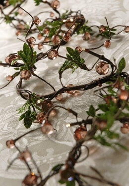 Warm White LED Willow Vine Garland