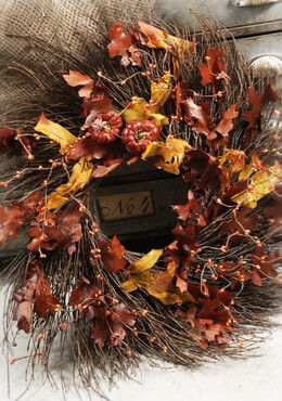 Natural Fall Twig Wreath 22in