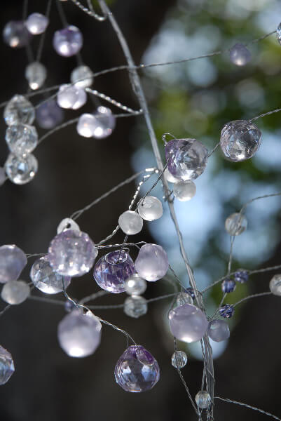 Touch of Lavender Crystal Garland 42in