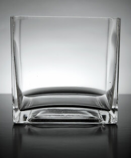Clear Glass Square Vase 5in (Case of 12)