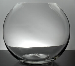Clear Glass Bubble Ball Round Vases 6.75in