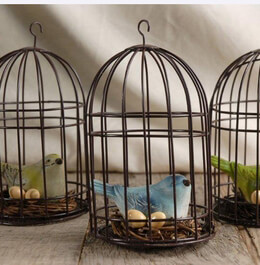 Bird Cage Ornaments  |  Set of 3