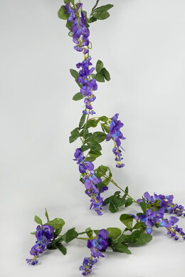 6' Purple Wisteria Garland