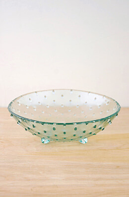 Hobnail Glass Bowl 7.75in