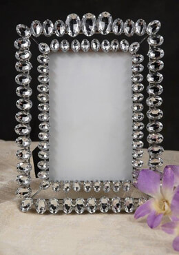 Double Rhinestone Table Number Frame