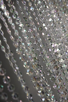 Crystal Curtain with 34 Garland Strands 71in