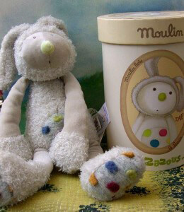 Moulin Roty Taptap Plush Rabbit