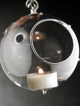 Pointelle Glass Ball Candle Holder