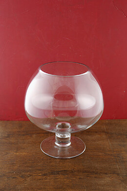 Large Brandy Glass Vases 9.5""