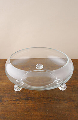 Footed Glass Bowl 9in