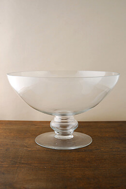 "Pedestal 12"" Glass Bowl, Centerpiece Bowls, Floating Flower Bowls"