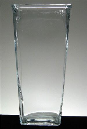 9in Tapered Rectangular Vase