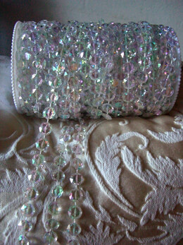 Iridescent Acrylic Crystal Garland 99ft